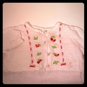 Vintage Baby Sweater Cherries Size 4T